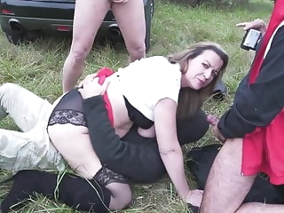 Mature mother fucks in all holes outdoor anal films